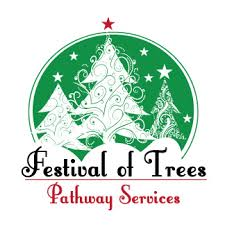 Festival of Trees logo showing a christmas tree and decorations