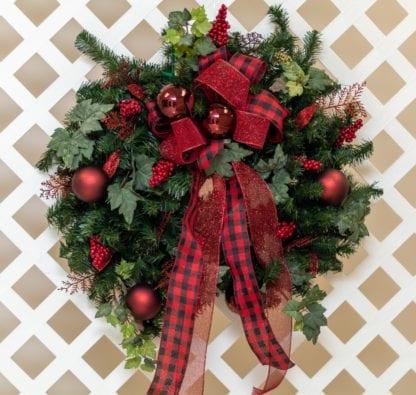 Bright Holiday Cheer Christmas Wreath
