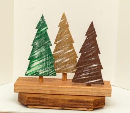 3 Piece Wooden Tree Set