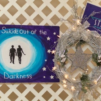 "'When it is darkest, you can see the stars"", Ralph Waldo Emmerson Christmas Wreath"