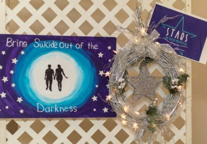 """'When it is darkest, you can see the stars"""", Ralph Waldo Emmerson Christmas Wreath"""