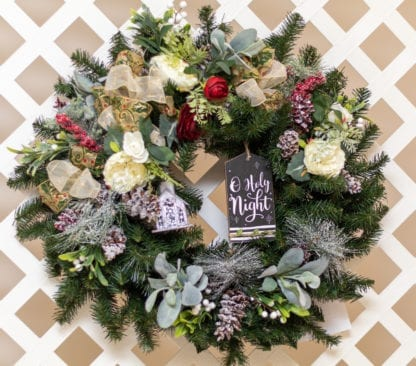 All is Calm – A Holy Night Christmas Wreath