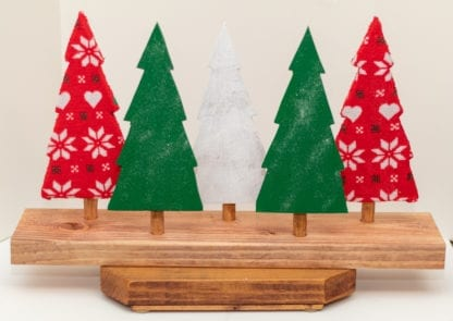 5 Piece Wooden Tree Set - Color Variation