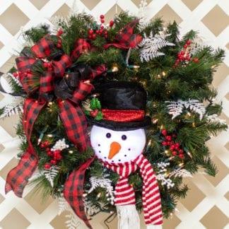 Frosty Winter Christmas Wreath