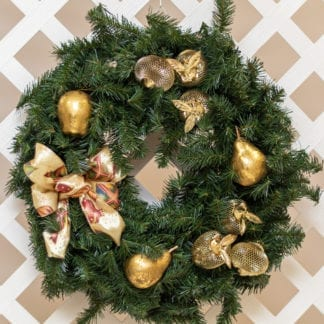 Apples 'N Pears Christmas Wreath