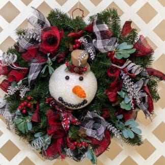 Country Snowman Christmas Wreath