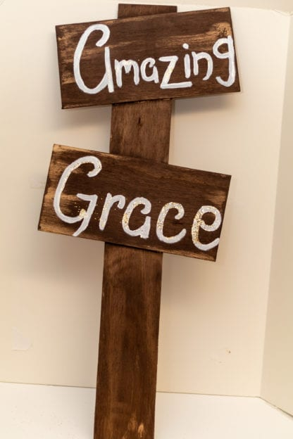 Amazing Grace Hand Painted Sign