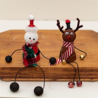 Handmade Santa and Reindeer