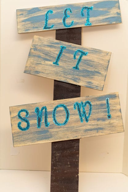 Let It Snow Hand Painted Sign