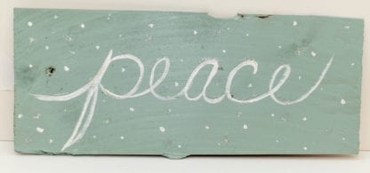 Peace Hand Painted Sign