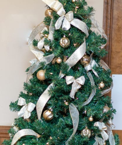Christmas Tree With Ribbon Festival of Trees 2020