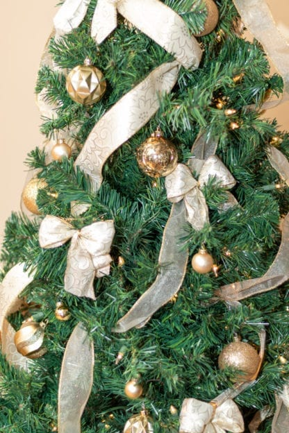 Christmas Tree With Ribbon Festival of Trees Auction