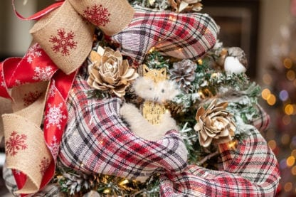 Owl Christmas Tree Close Up
