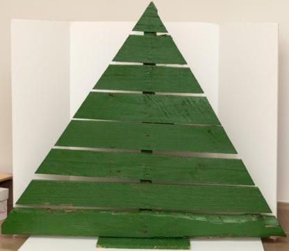 Wooden Pallet Tree Green